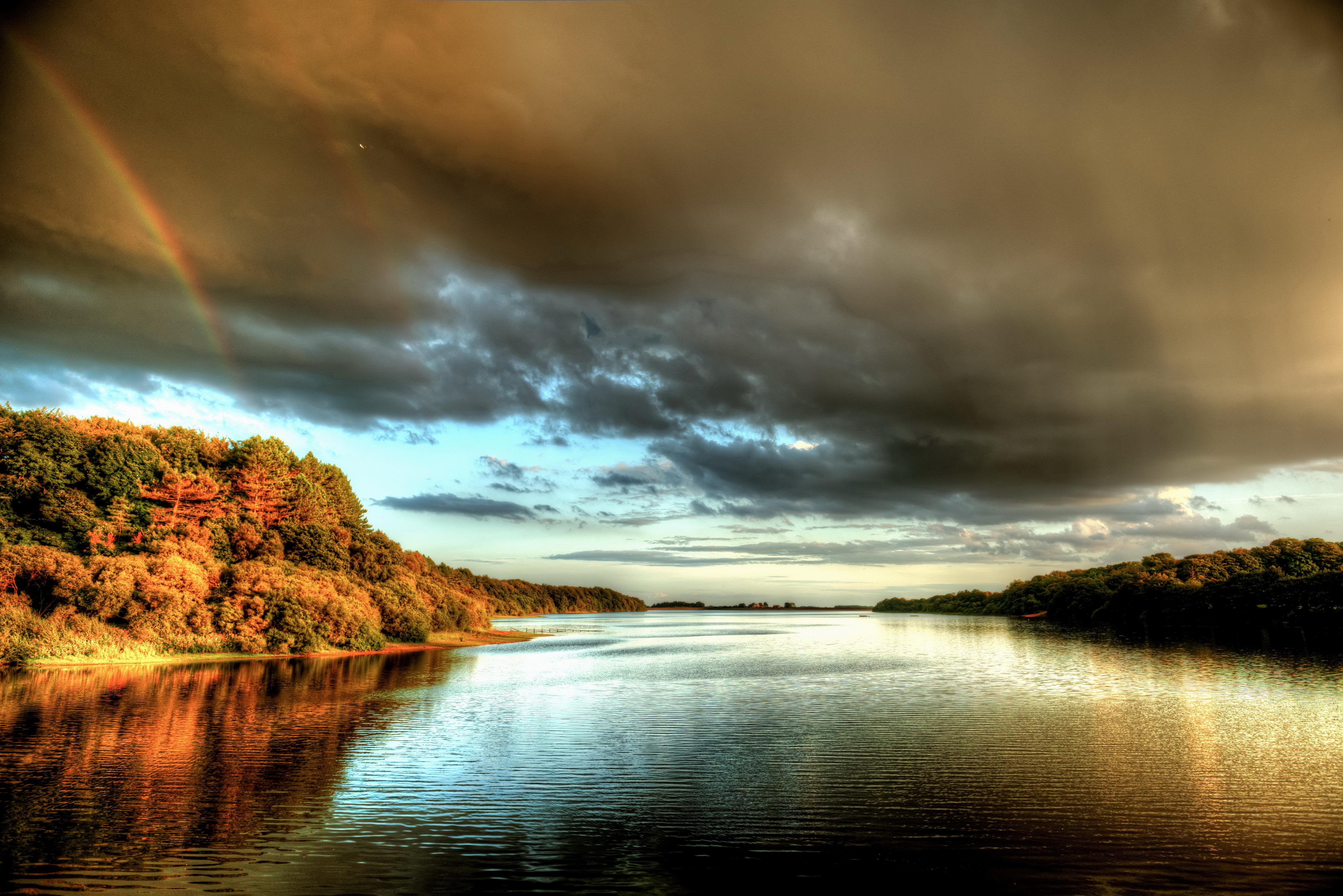 Природа облака небо река  № 2558874 бесплатно
