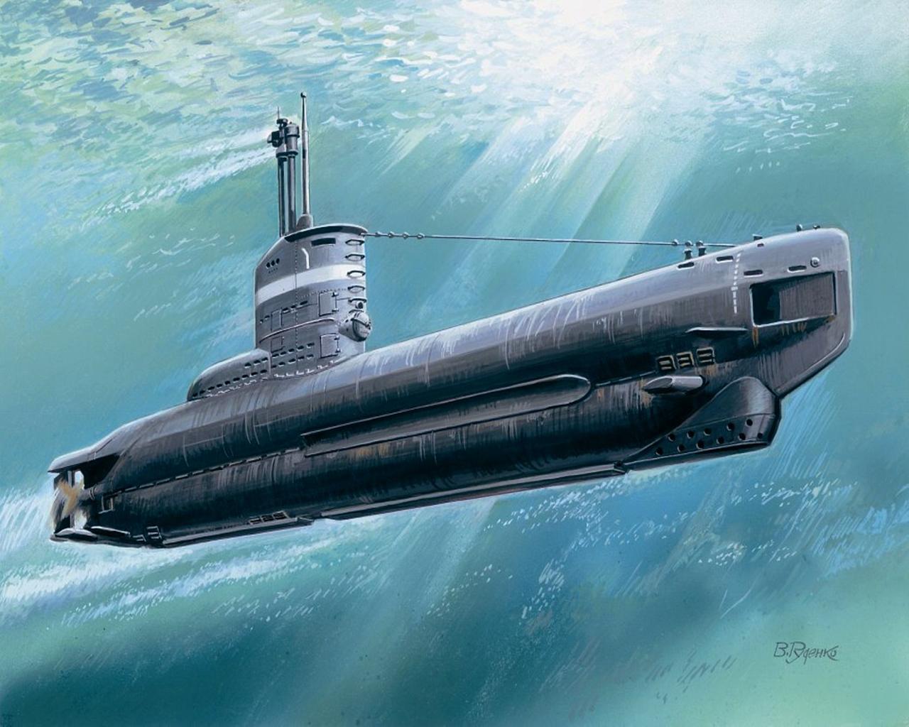 Обои Подводные лодки U-boot XXIII Рисованные Армия
