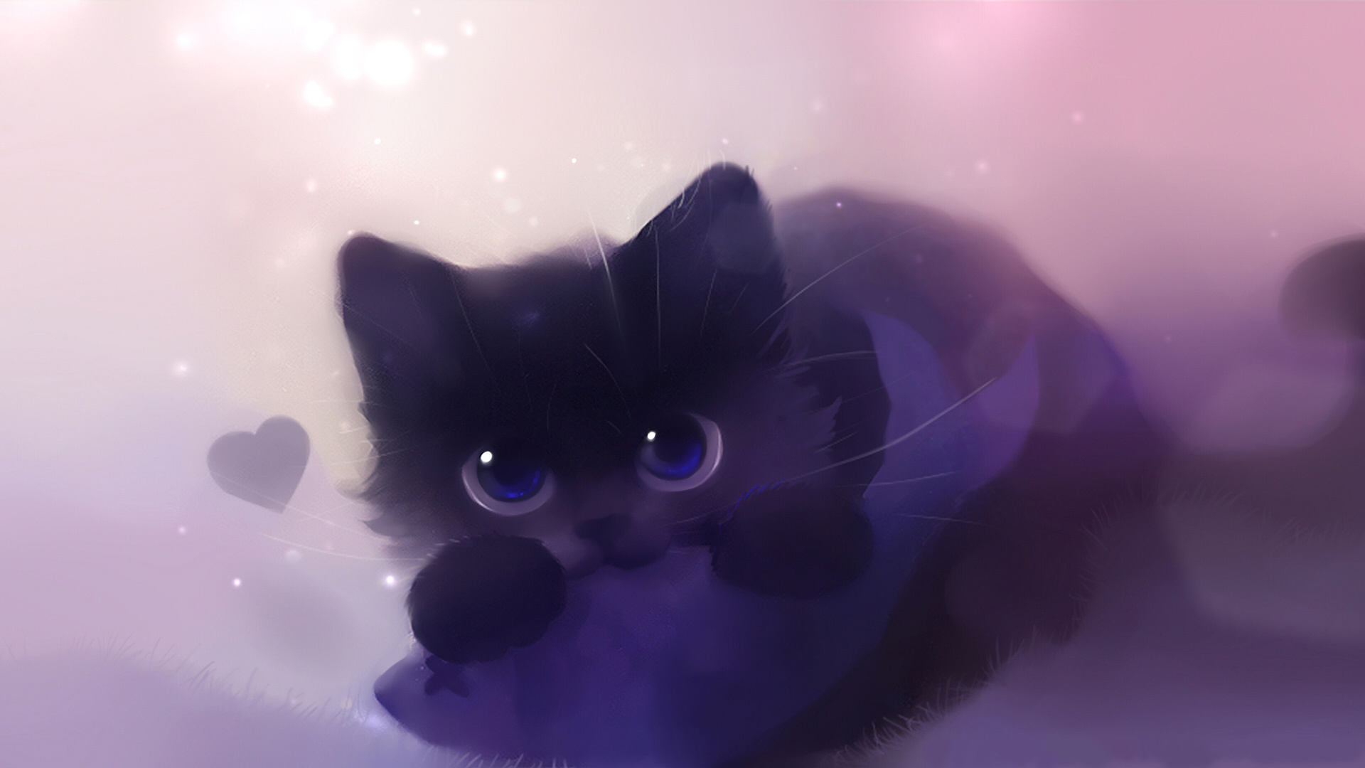 фото чёрных котят аниме #9