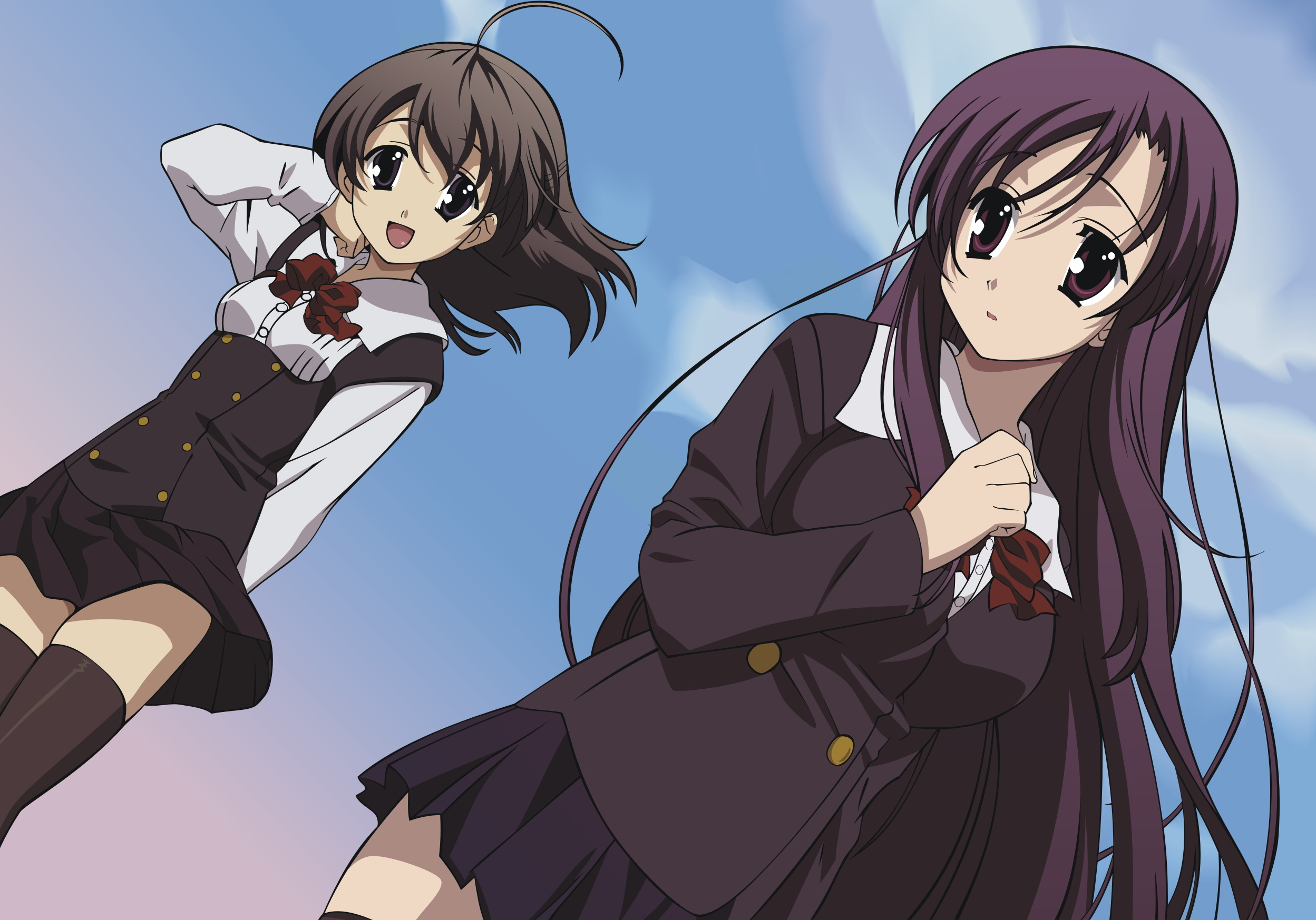 картинки аниме школьные дни: