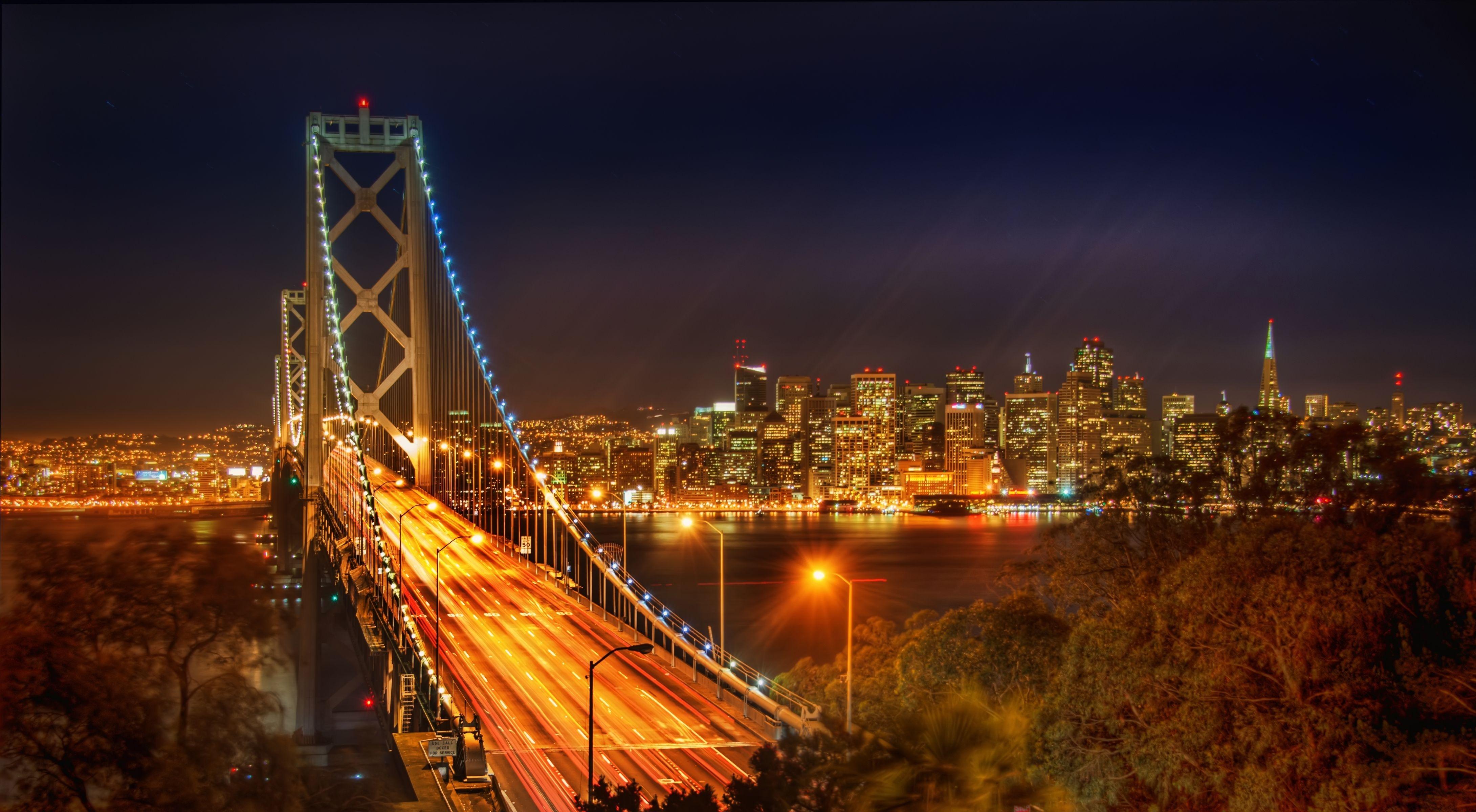 Evening Crossing, Bay Bridge, San Francisco, California  № 3720977  скачать