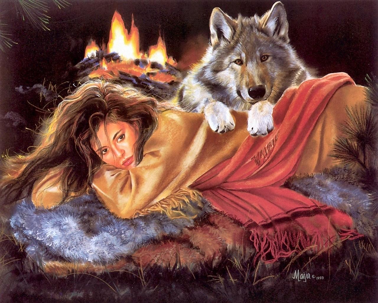 Волки картинки на открытку