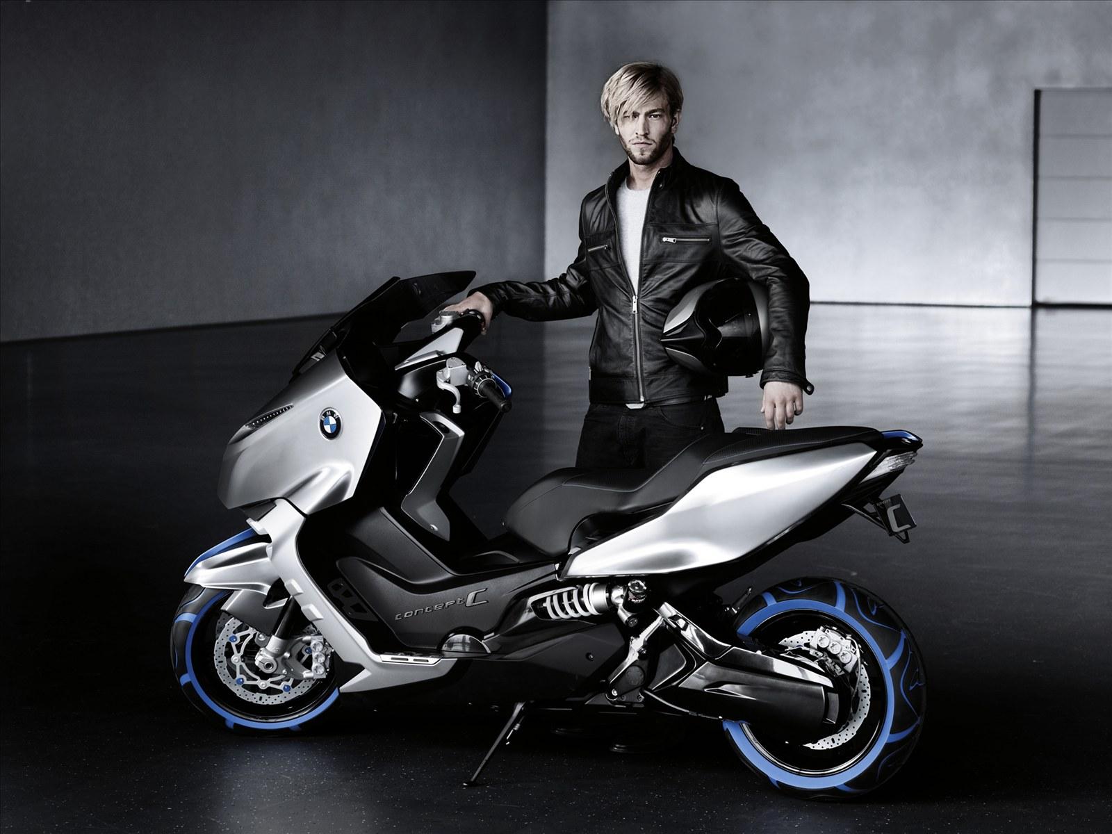 Обои для рабочего стола Мотороллер BMW Scooter C Concept Мотоциклы Скутер мотоцикл