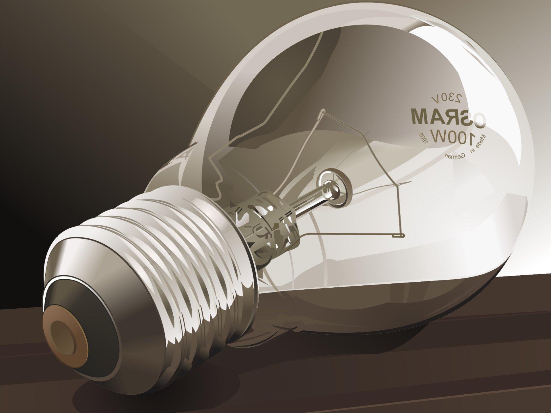 Фото Лампочка лампа накаливания