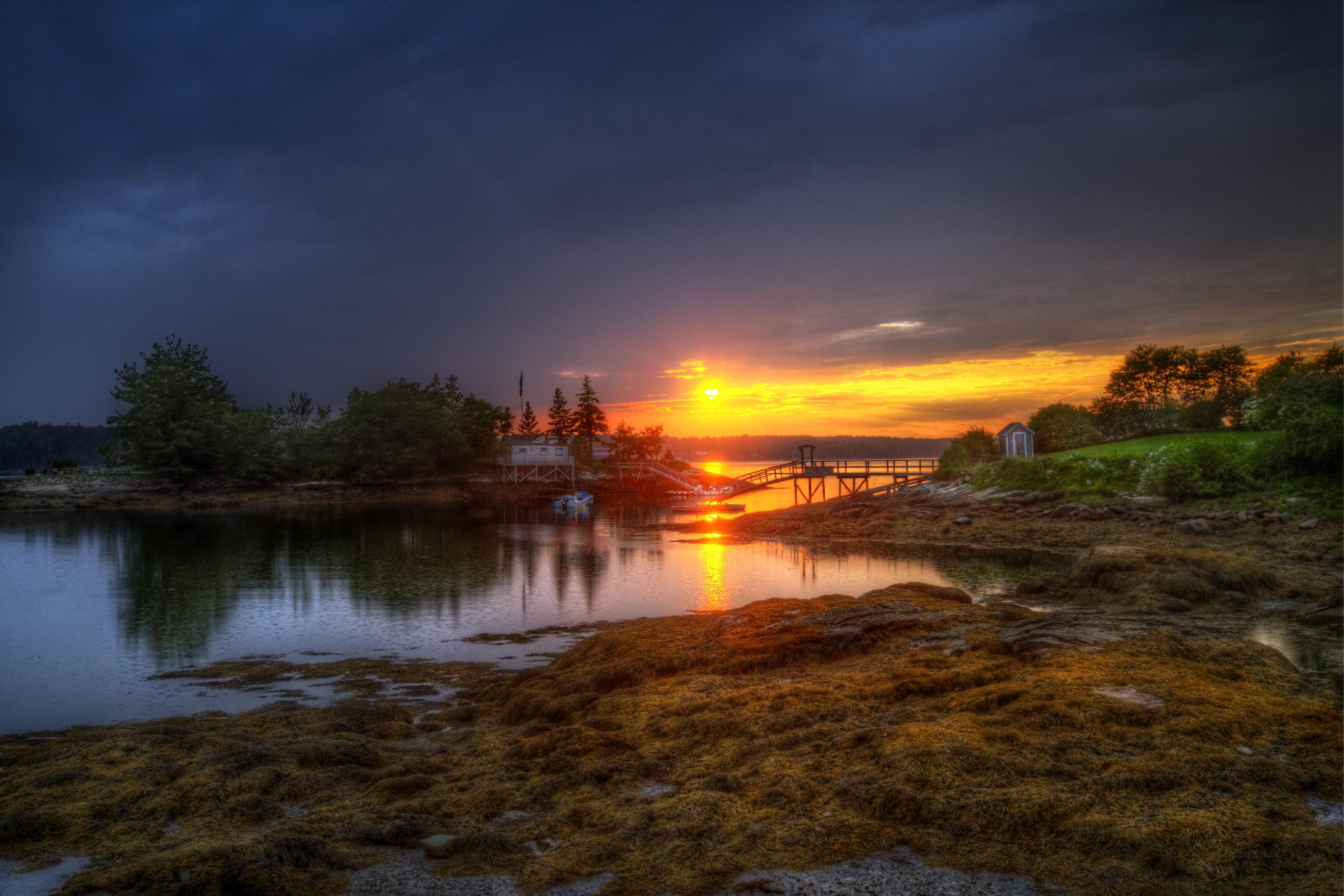 рассвет на озере бесплатно