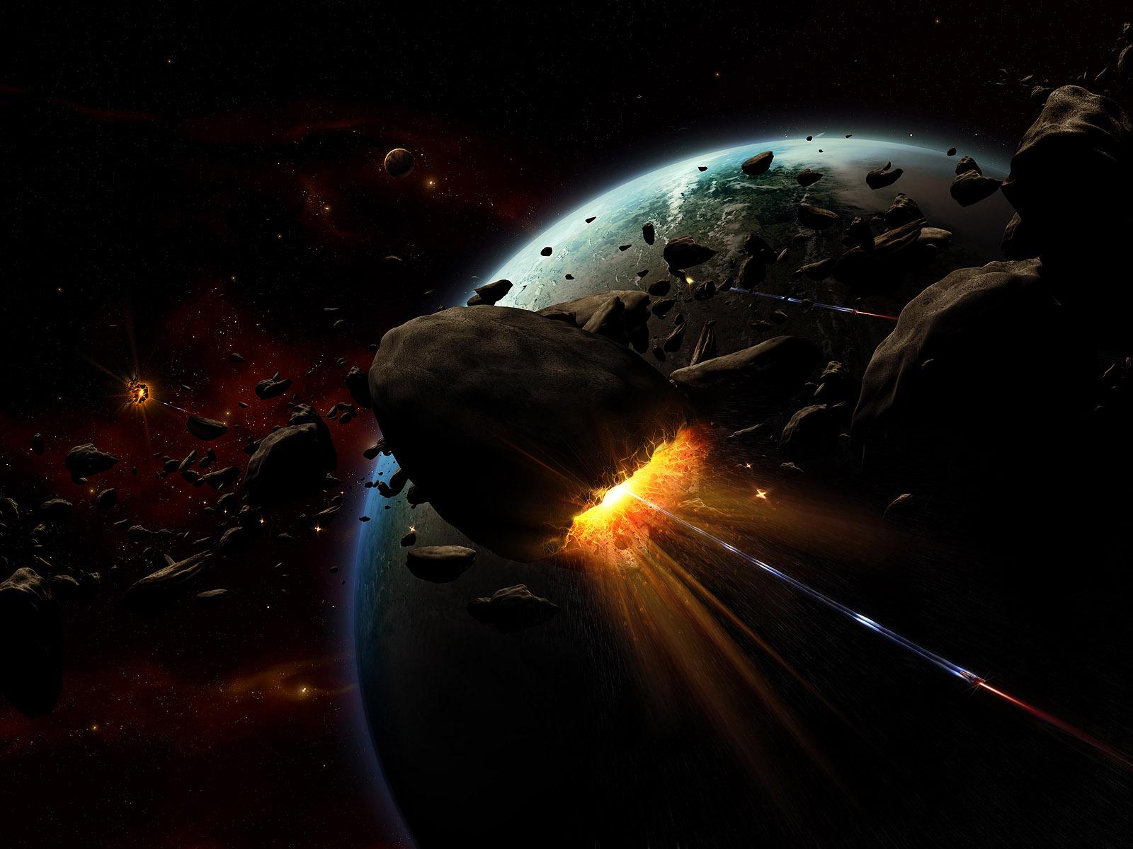 Обои Explosion, взрыв, space, Meteorite, метеорит. Космос foto 7