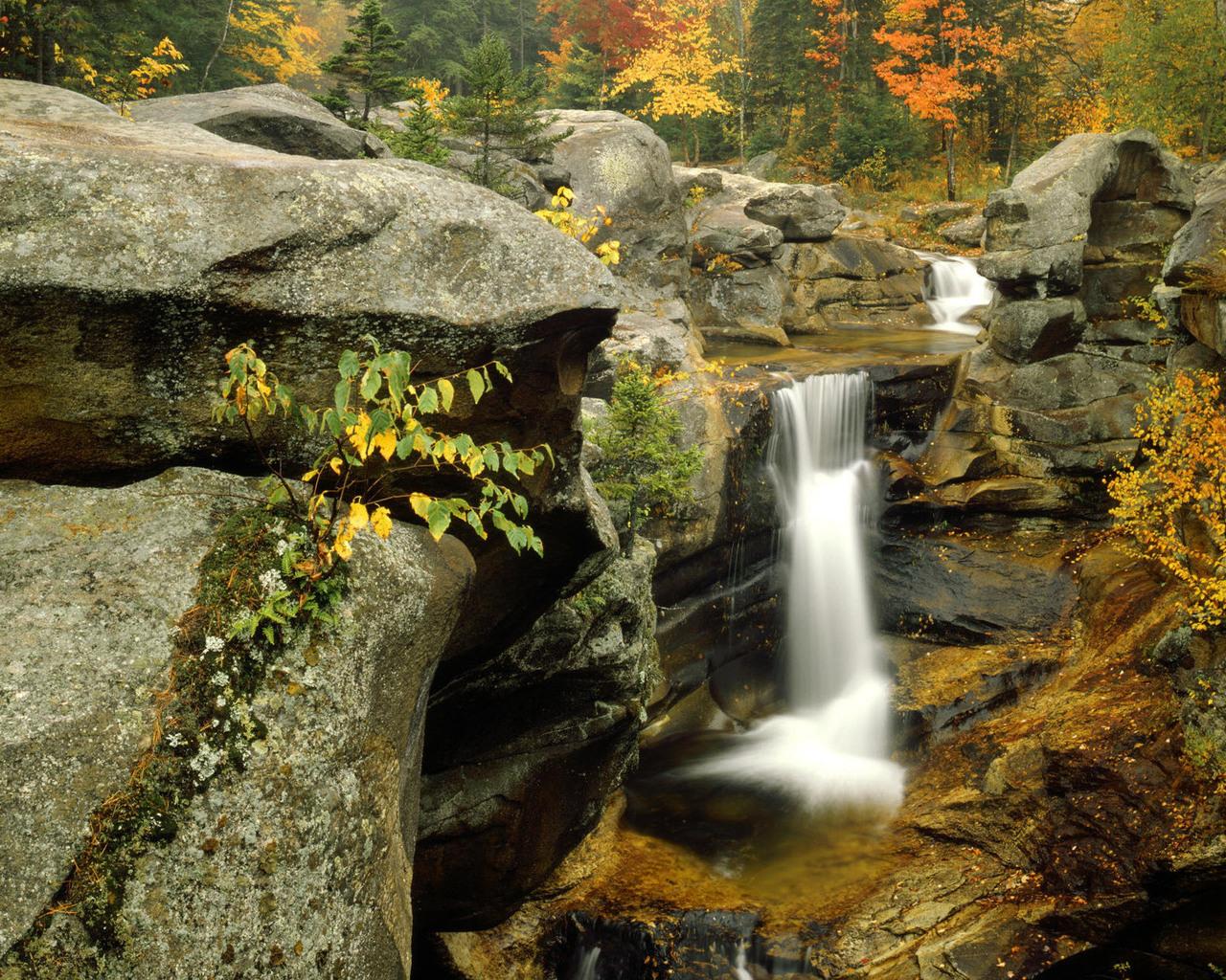Времена года Осень Водопады - Природа