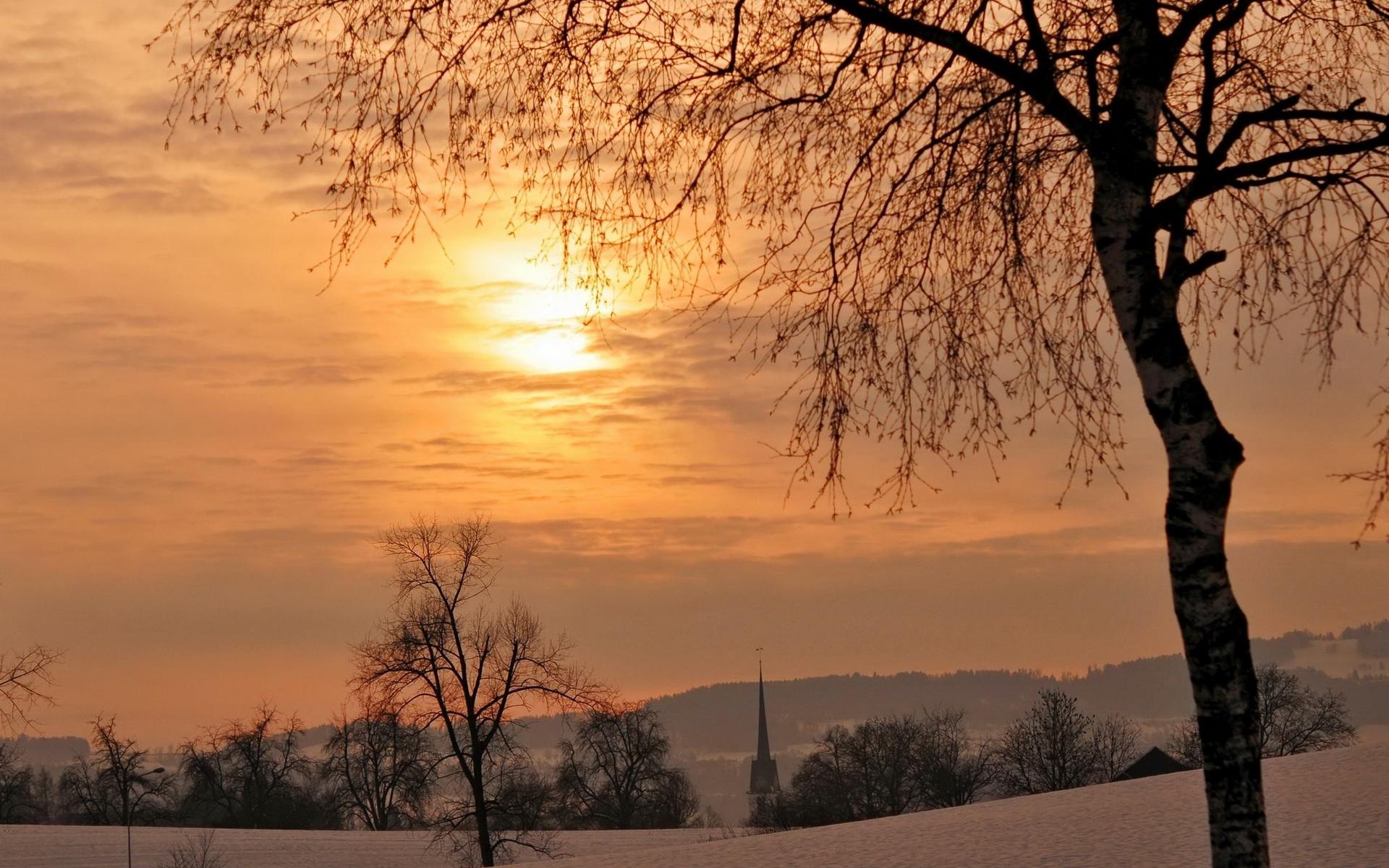 Зимний рассвет без смс