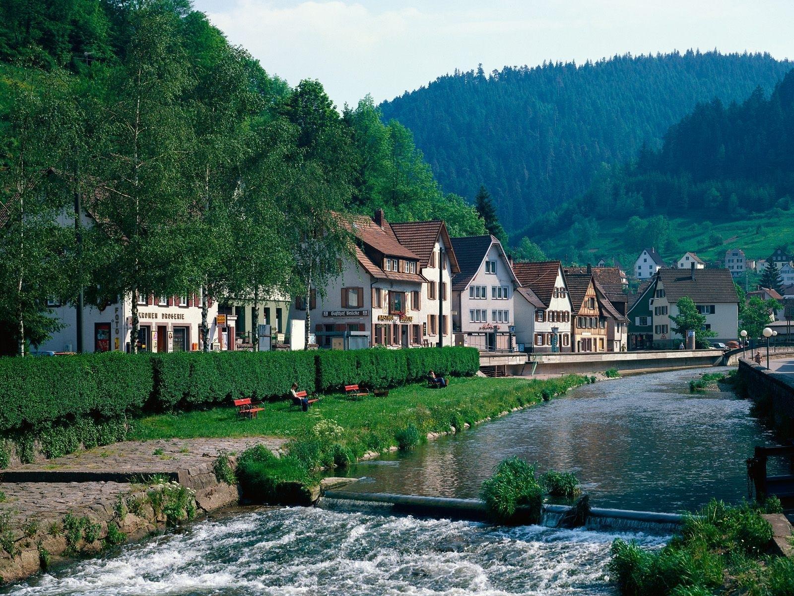 Lorch Village, Hesse, Rhine River, Germany  № 78237 загрузить