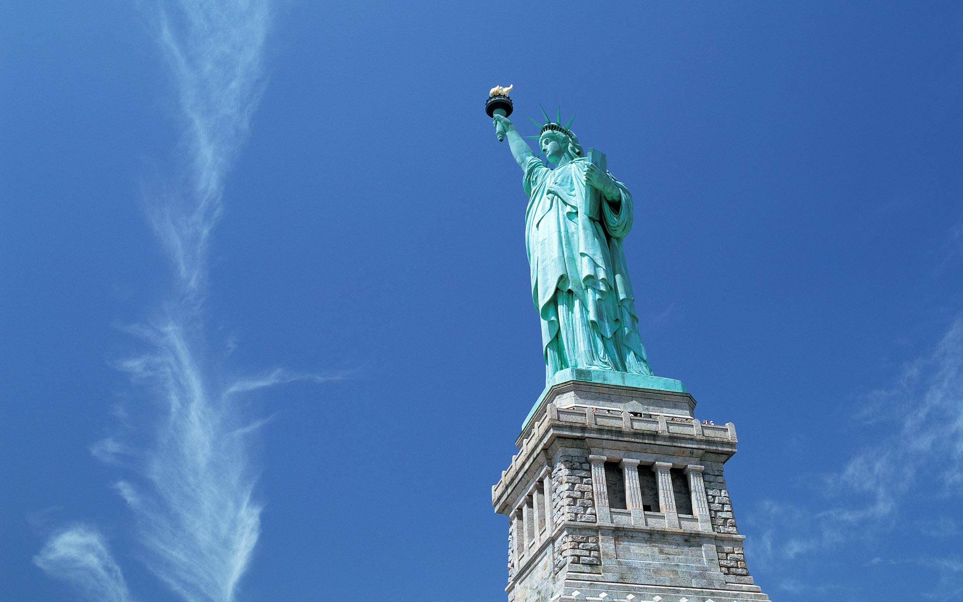 Статуя город небо скачать