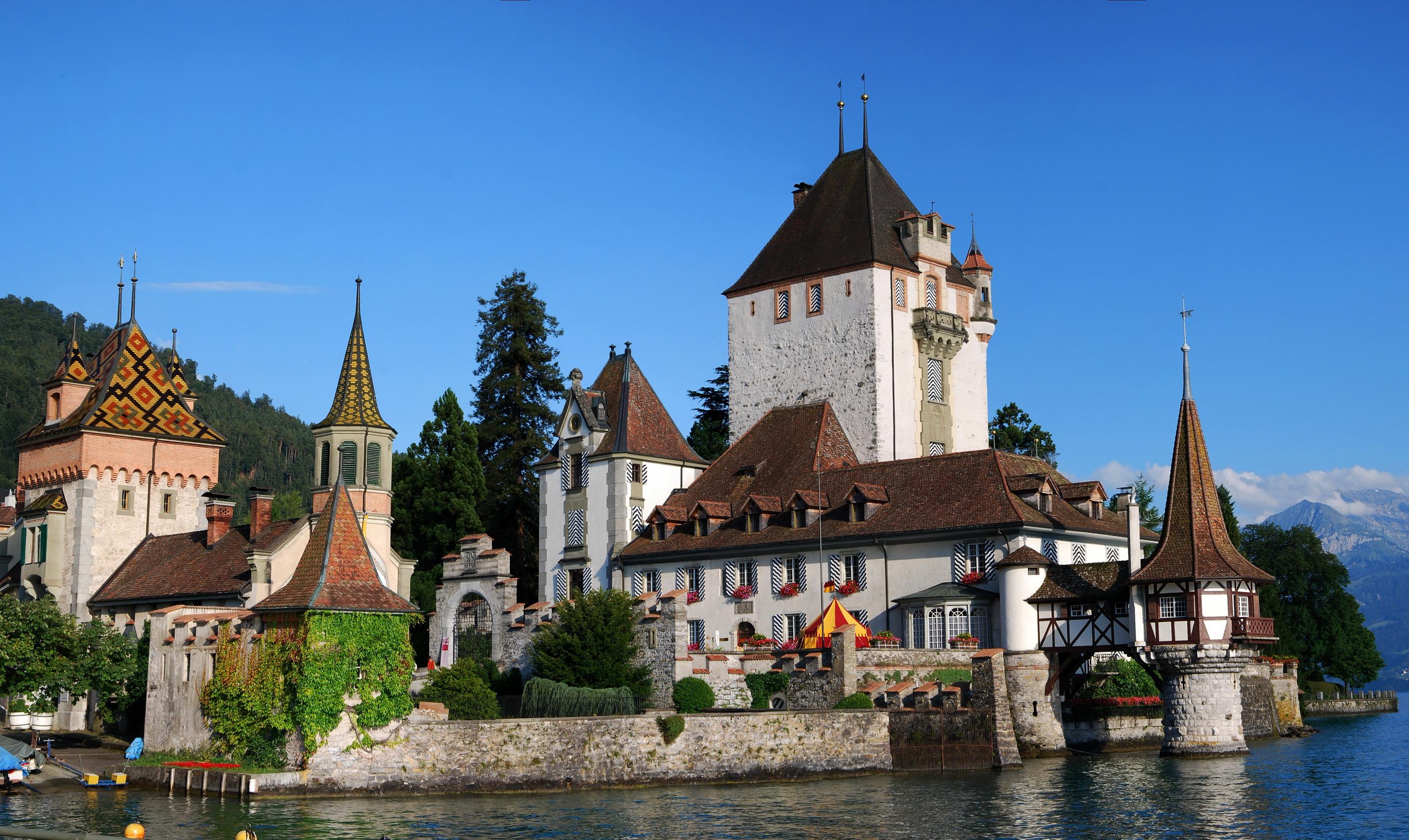 Замок швейцария вечер  № 2569418 без смс