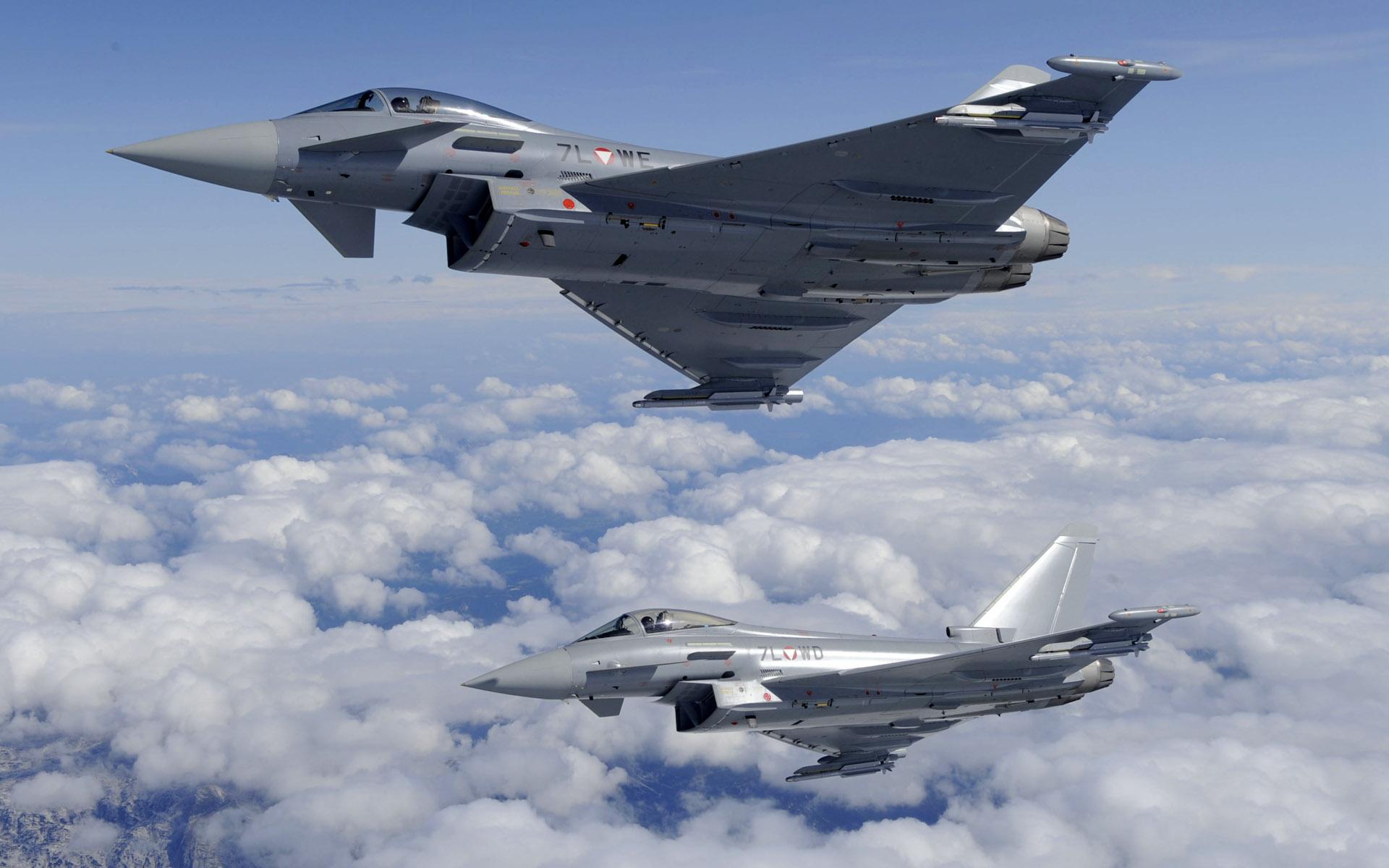 Обои самолеты, Eurofighter typhoon. Авиация foto 9