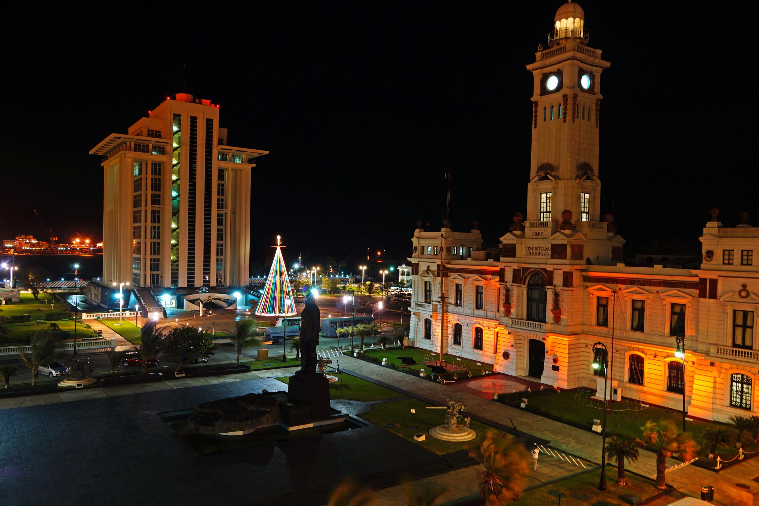 Ночные города ( ночью ) : Мексика Веракрус - Города