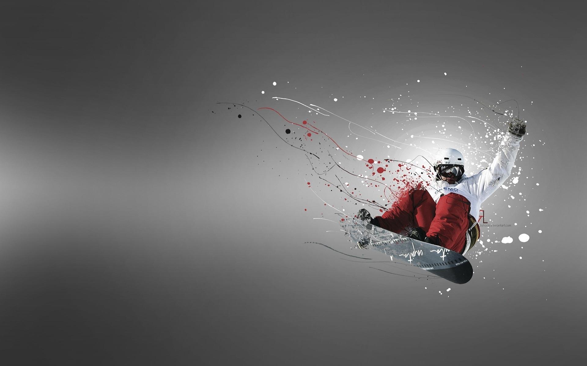 сноубордист в прыжке скачать