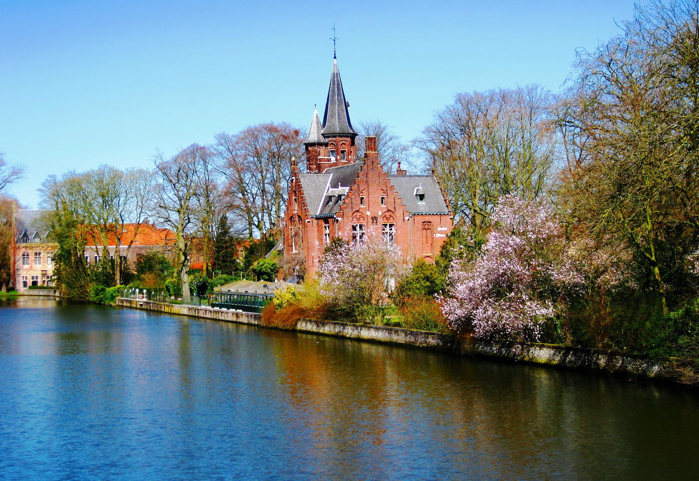 страны архитектура река Бельгия Брюгге  № 1730823  скачать