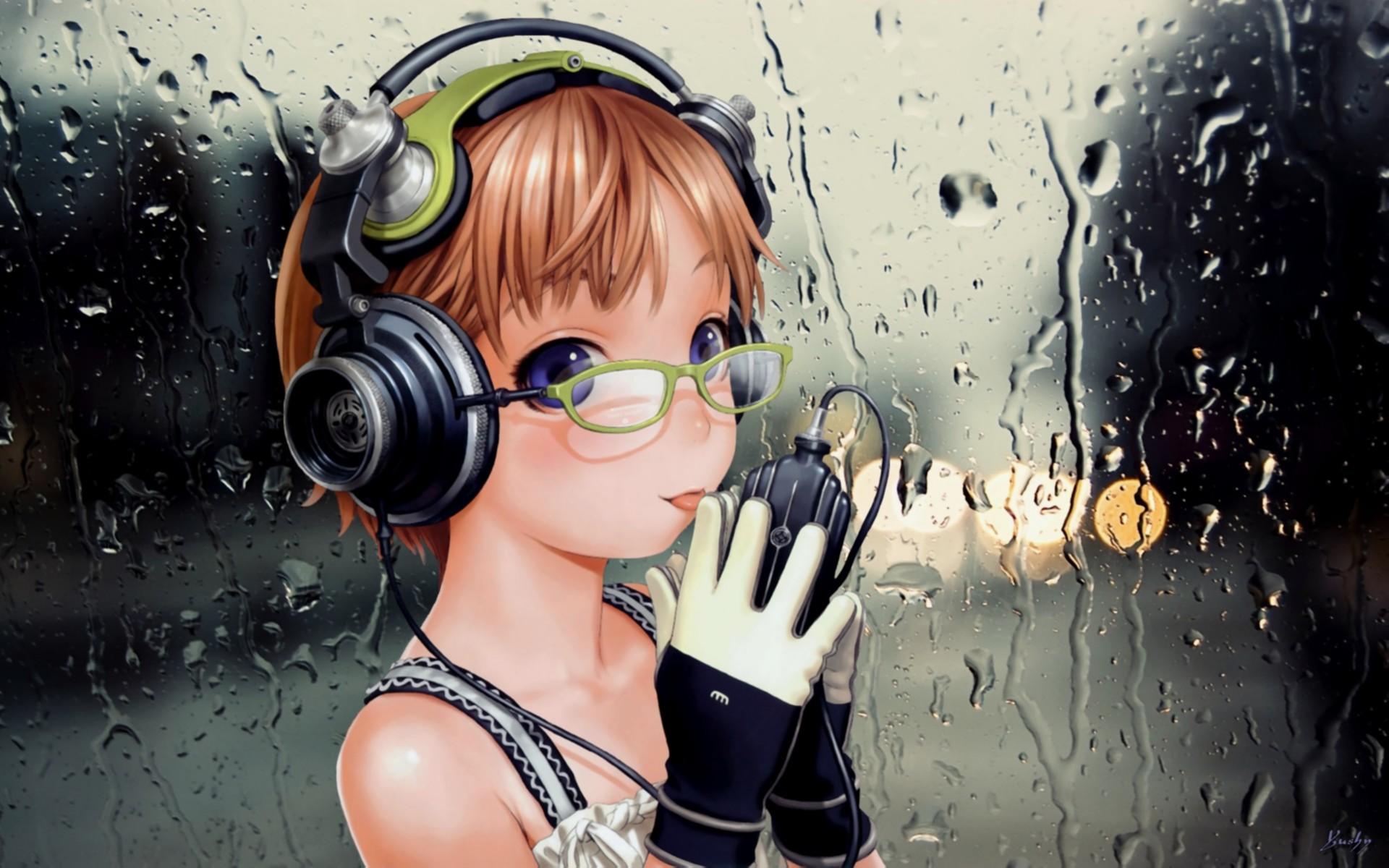 аниме девушка с микрофоном: