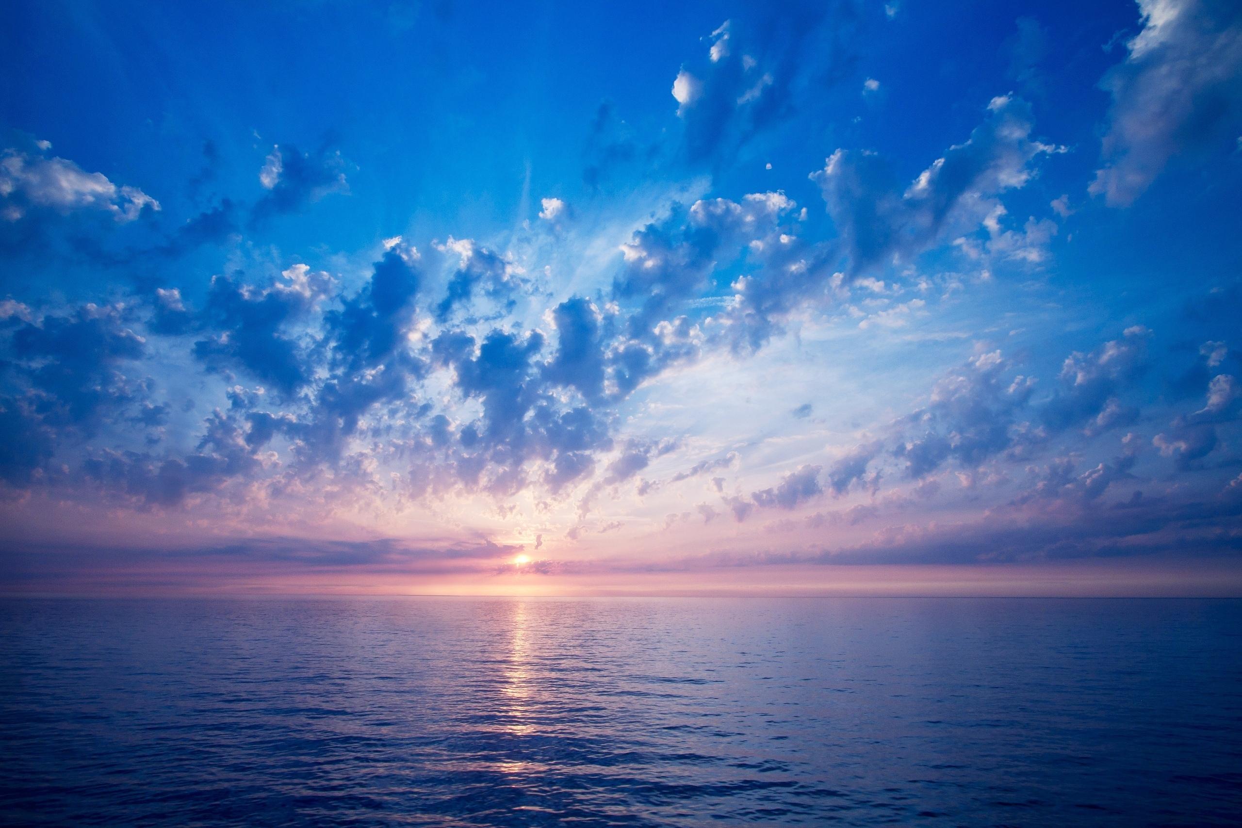 красочный закат над морем  № 1258724 без смс
