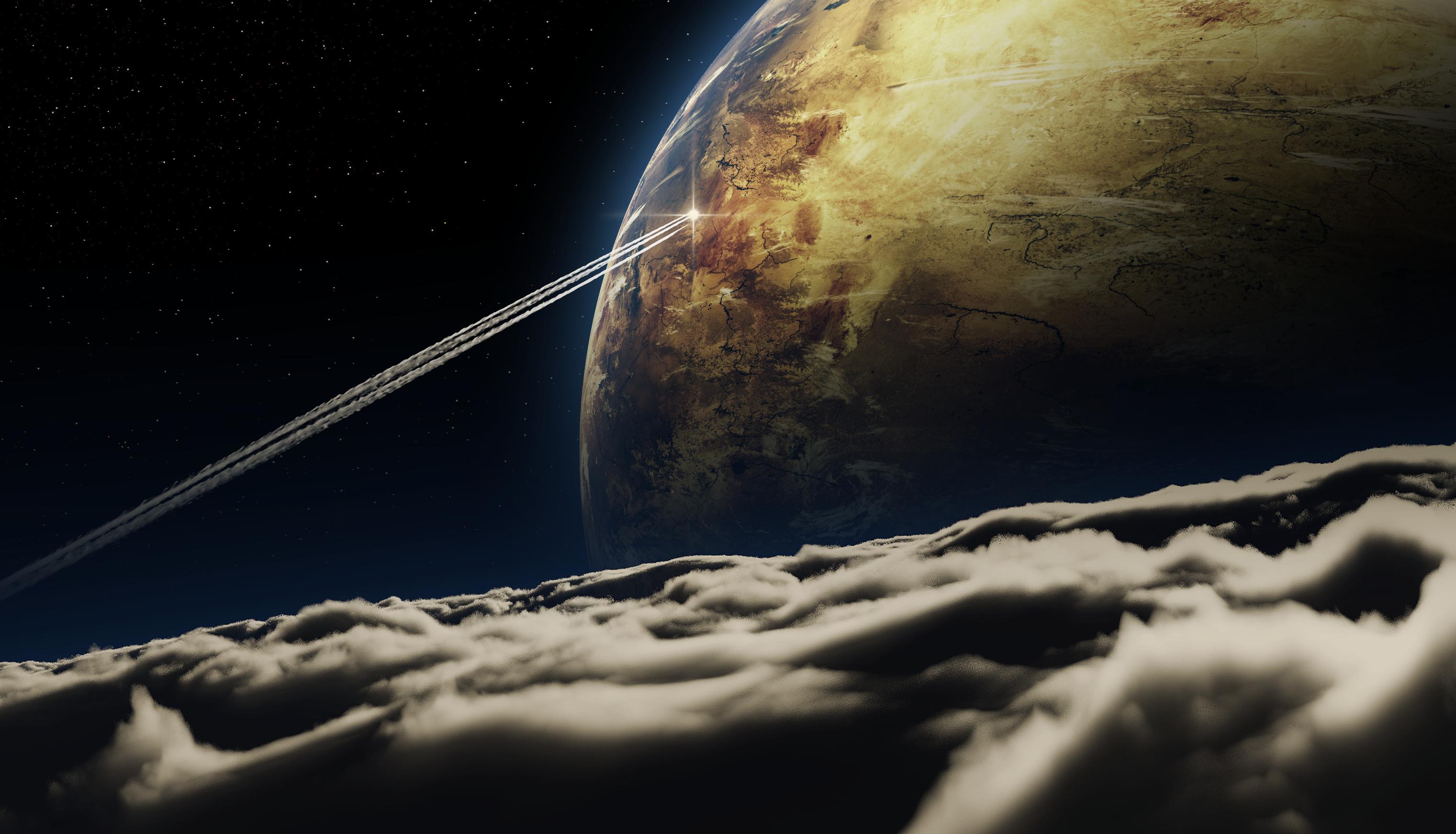 Обои космический корабль планета картинки на рабочий стол на тему Космос - скачать  № 3950411 бесплатно