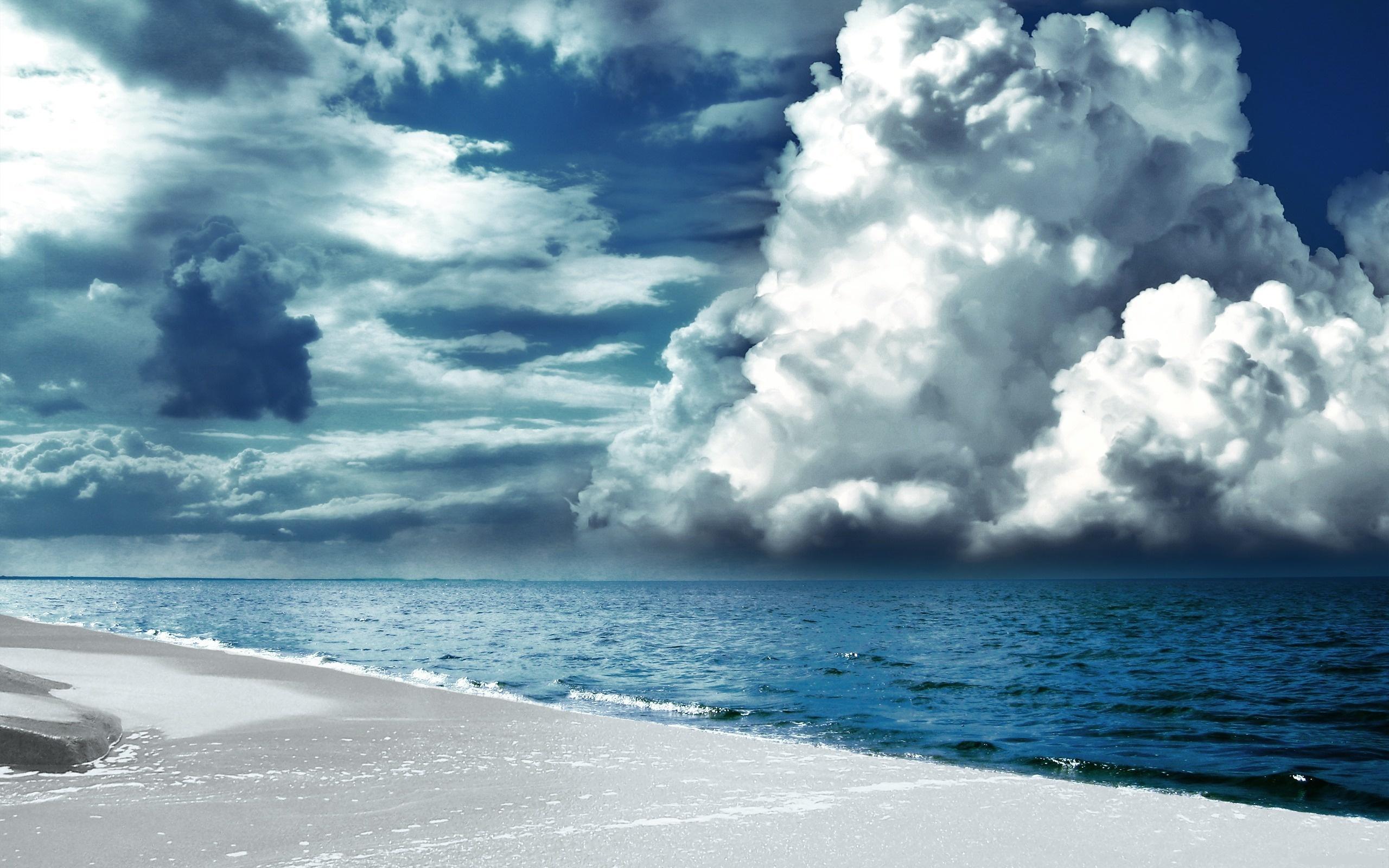 Море вода деревья облака  № 1034935  скачать