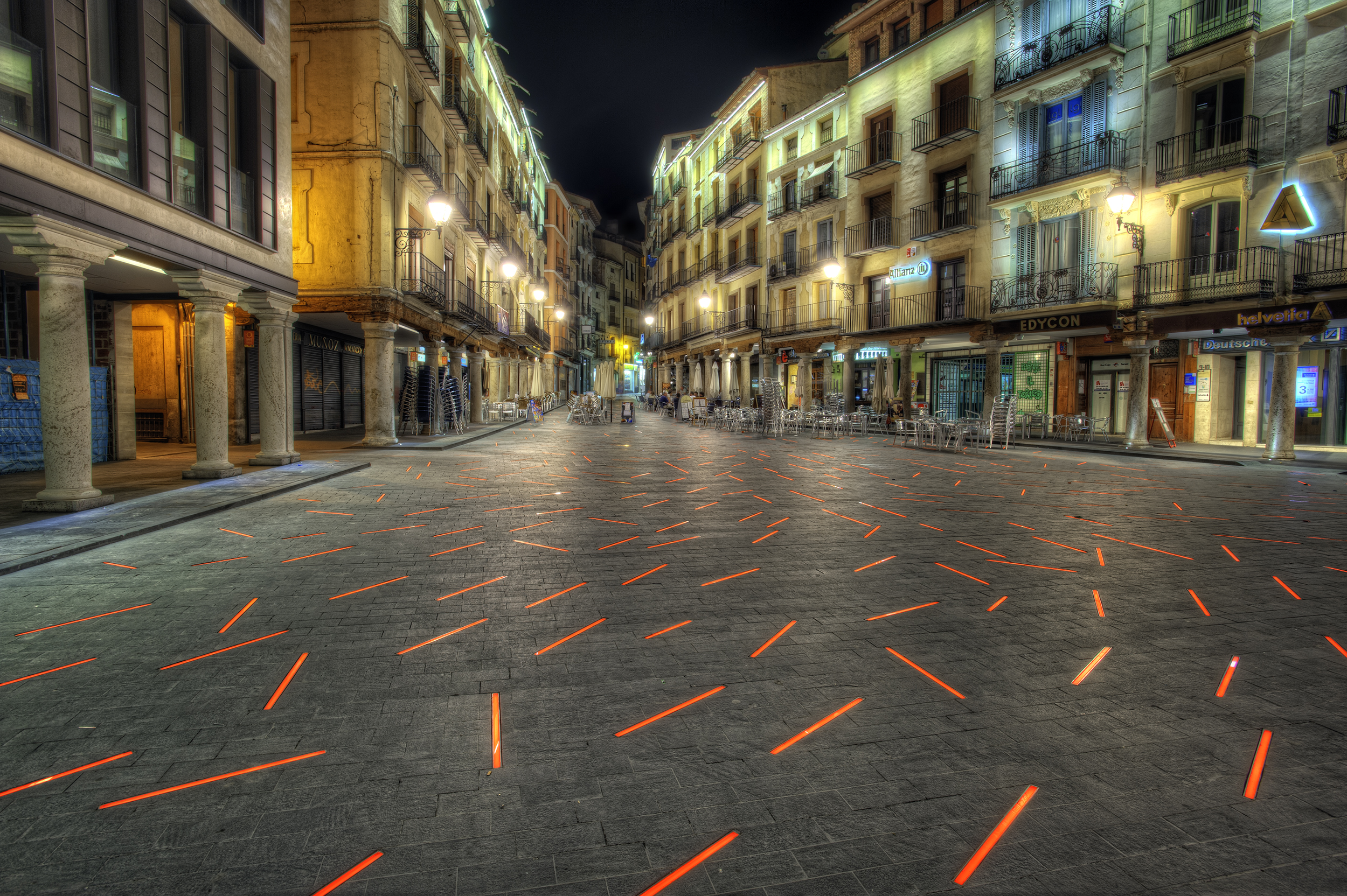 Обои тротуар, здания, свет. Города foto 17