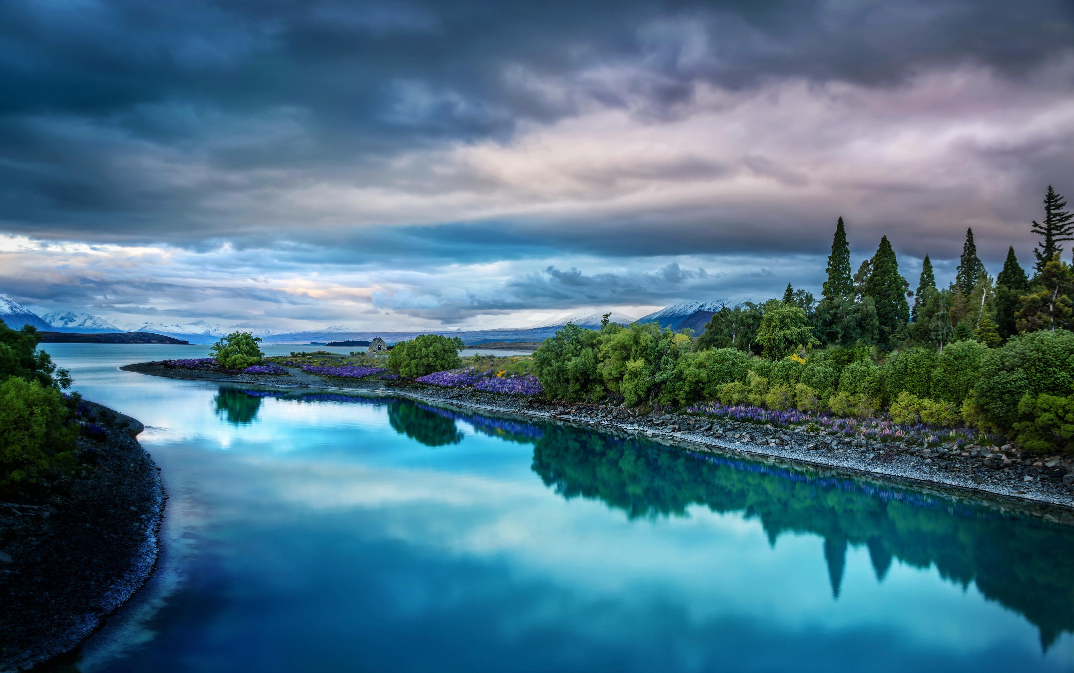 природа река Новая Зеландия без смс