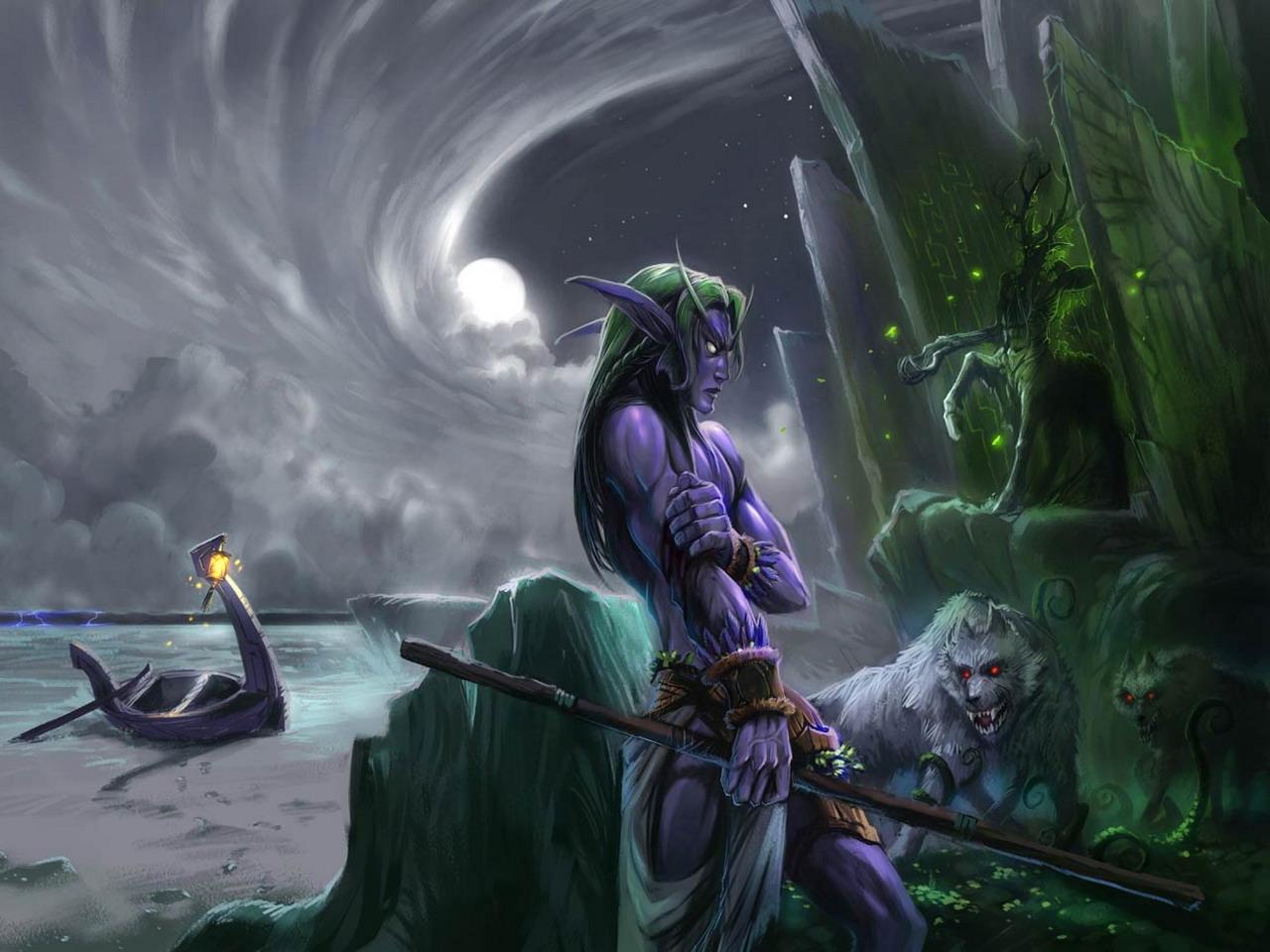 Naked druid exploited scene