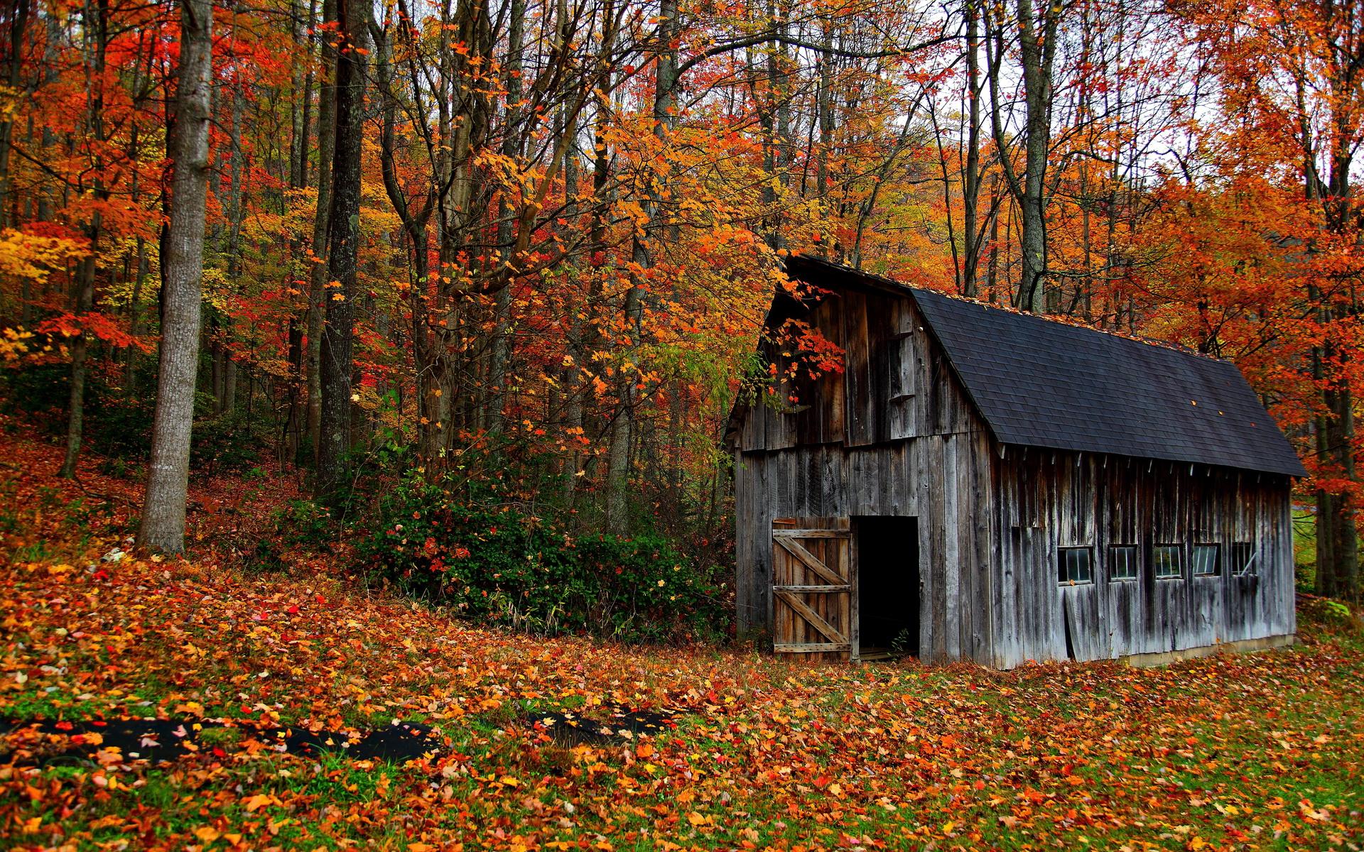 горы сарай осень mountains the barn autumn  № 387066  скачать