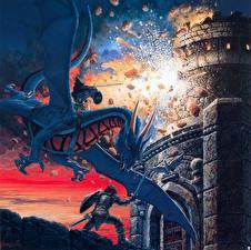 Обои Кит Паркинсон Драконы Воители