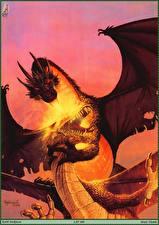 Фото Keith Parkinson Дракон Пламя Две Сражение
