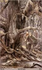 Обои Alan Lee Мужчины Ствол дерева