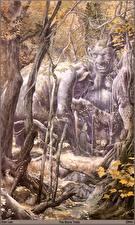 Обои Alan Lee the stone trolls