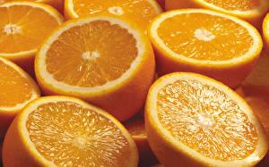 Картинка Фрукты Цитрусовые Апельсин Много