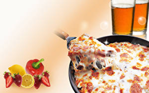 Картинки Пицца Кусочек Еда