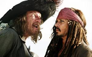 Картинка Пираты Карибского моря Johnny Depp Кино Фильмы