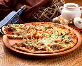 Обои Пицца Сыры Часть Продукты питания