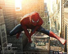 Обои для рабочего стола Человек-паук Человек-паук 2 Человек паук герой Фильмы