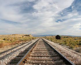 Фотография Железные дороги Рельсах Природа