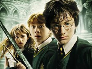 Фотографии Гарри Поттер Гарри Поттер и тайная комната Daniel Radcliffe Emma Watson Rupert Grint Фильмы