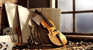 Обои Музыкальные инструменты Скрипки