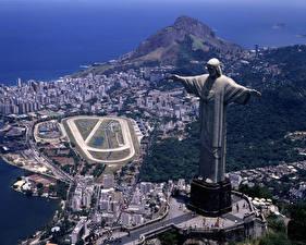 Фотографии Бразилия Рио-де-Жанейро Статуя Иисуса Христа