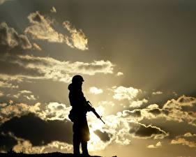 Картинка Солдаты Силуэт Армия