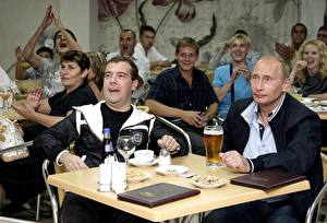 Картинка Владимир Путин Дмитрий Медведев Президент Знаменитости