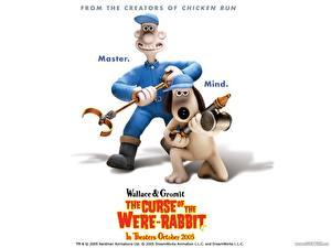 Обои Уоллес и Громит: Проклятие кролика-оборотня Мультики