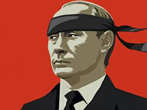 Картинки Владимир Путин Векторная графика Президент Смешные