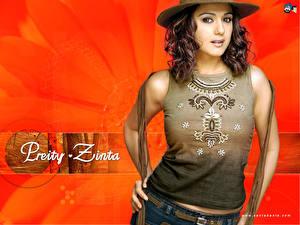 Обои Индийские Preity Zinta