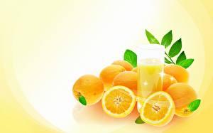 Фотографии Фрукты Цитрусовые Апельсин Еда