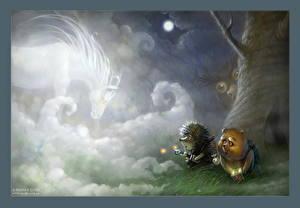 Обои Ежик в тумане Мультики