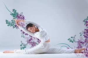 Фотографии Азиаты Шпагат Девушки