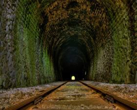 Обои Железные дороги Туннель Рельсы
