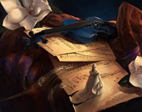 Обои Скрипки Фэнтези